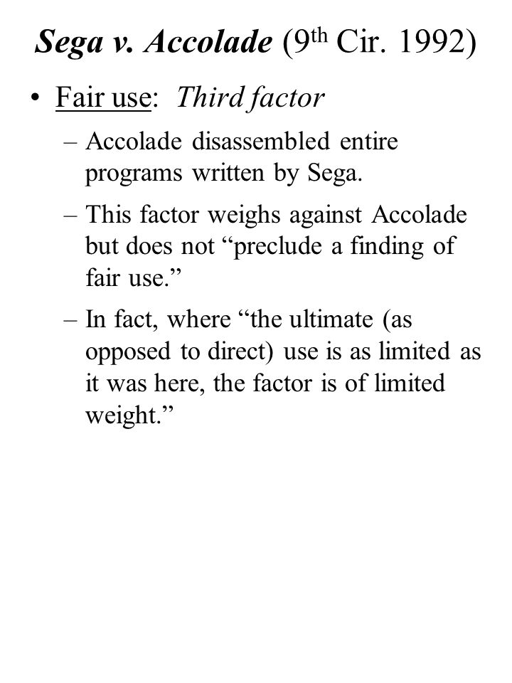 Sega v.Accolade (9 th Cir.