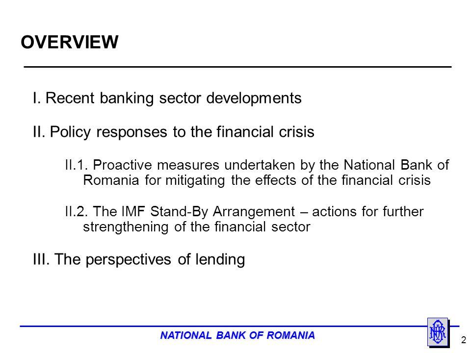NATIONAL BANK OF ROMANIA 13 II.1.
