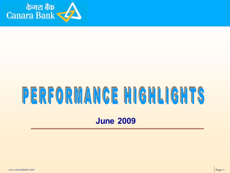 Page 1 www.canarabank.com June 2009
