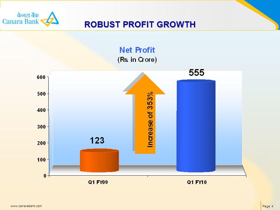 Page 4 www.canarabank.com ROBUST PROFIT GROWTH