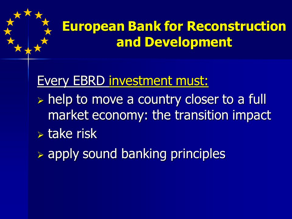 Environmental Sustainability EIB focuses on 5 areas of interest for its environmental lending: EIB focuses on 5 areas of interest for its environmental lending: improving the quality of life in the urban environment, through urban renewal and sustainable urban transport projects improving the quality of life in the urban environment, through urban renewal and sustainable urban transport projects addressing environmental and health issues addressing environmental and health issues tackling climate change, including energy efficiency and renewable energy tackling climate change, including energy efficiency and renewable energy protecting nature and wildlife protecting nature and wildlife preserving natural resources and managing waste preserving natural resources and managing waste