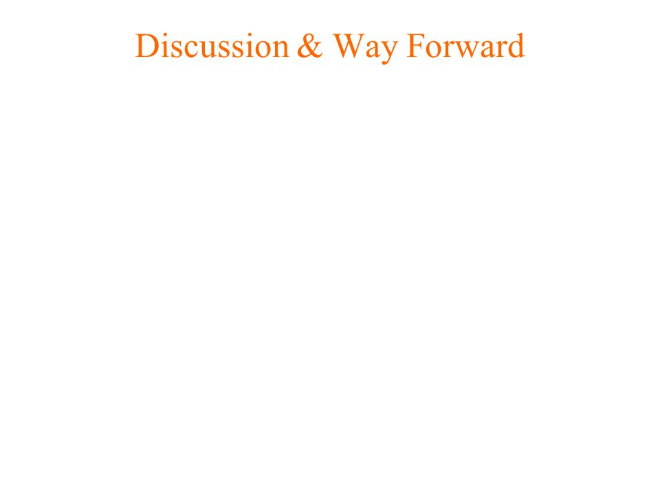 Discussion & Way Forward