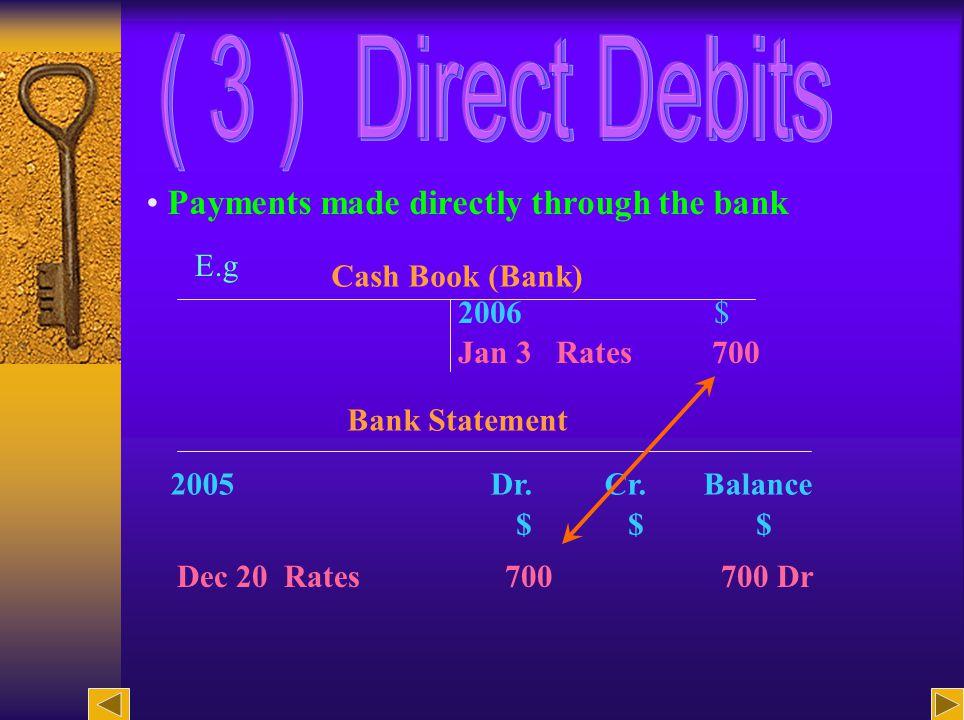27 Example Cash Book 2007 $ Dec 4 A.Ko X 290 Dec 24 N.
