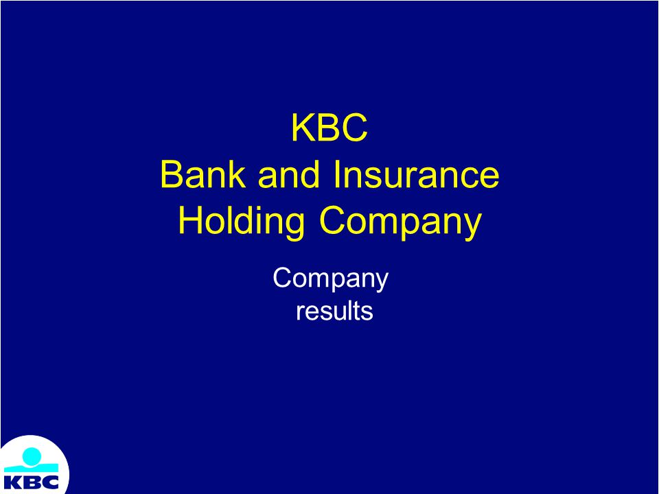 KBC Bank and Insurance Holding Company Company results