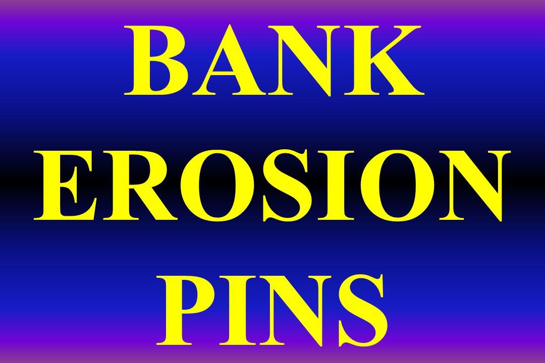 BANK EROSION PINS
