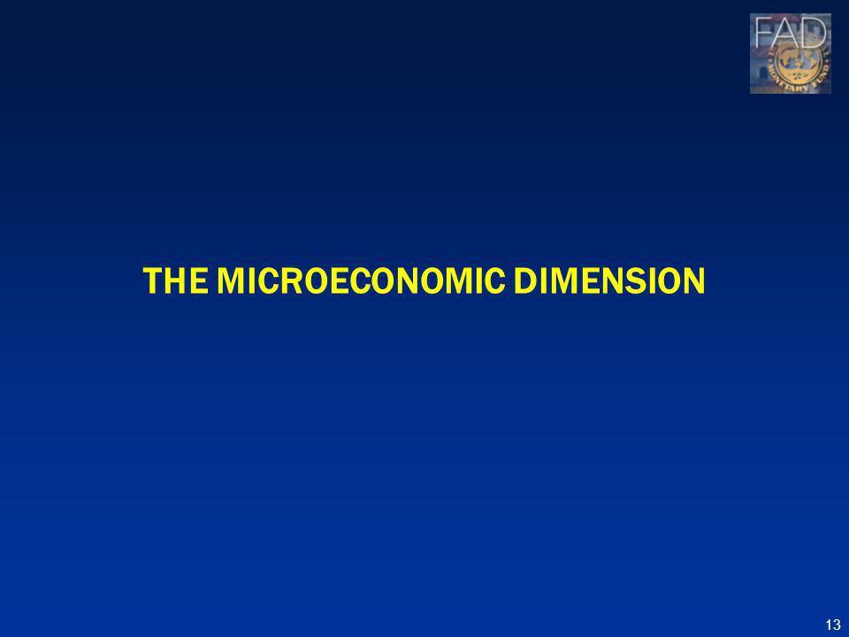 THE MICROECONOMIC DIMENSION 13