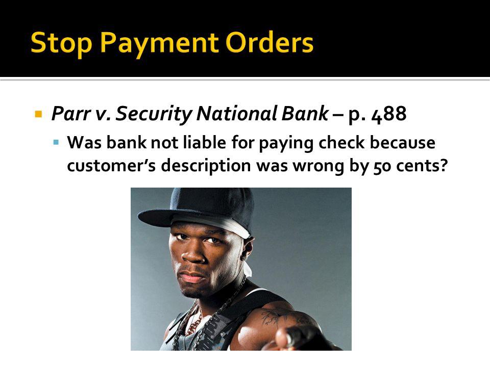 Parr v.Security National Bank – p.