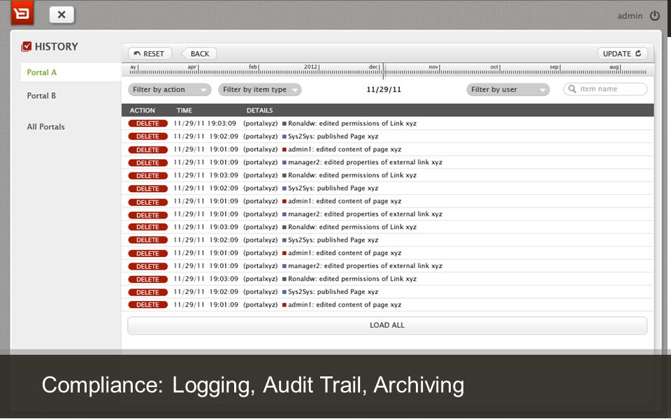 Customer Experience Solutions. Delivered. 30 Compliance: Logging, Audit Trail, Archiving