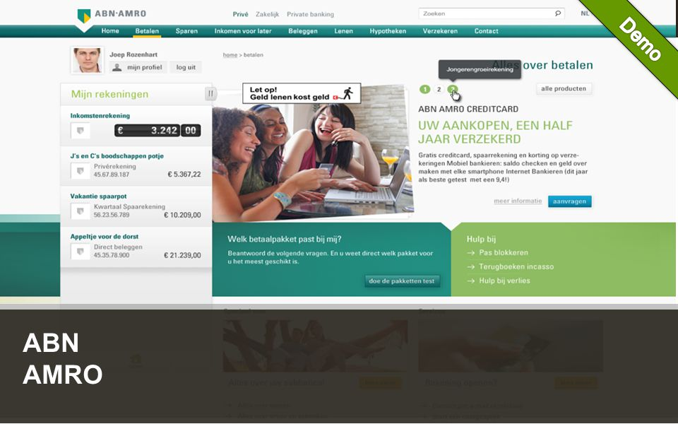Customer Experience Solutions. Delivered. 9 ABN AMRO