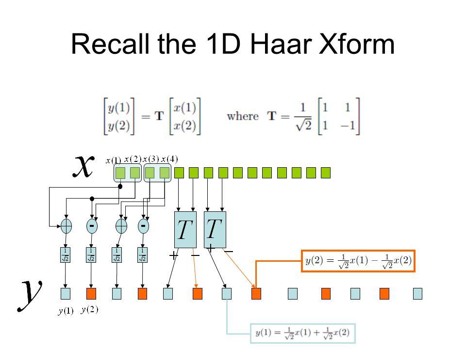 Recall the 1D Haar Xform