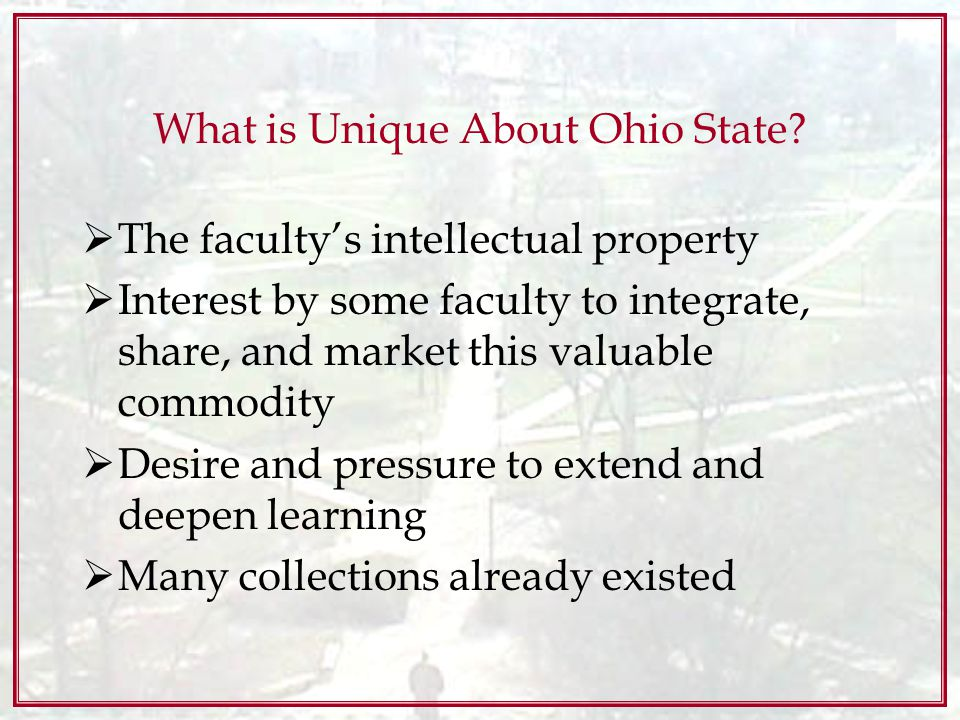 What is Unique About Ohio State.