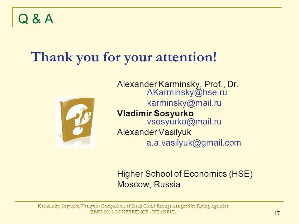 Q & A Alexander Karminsky, Prof., Dr.