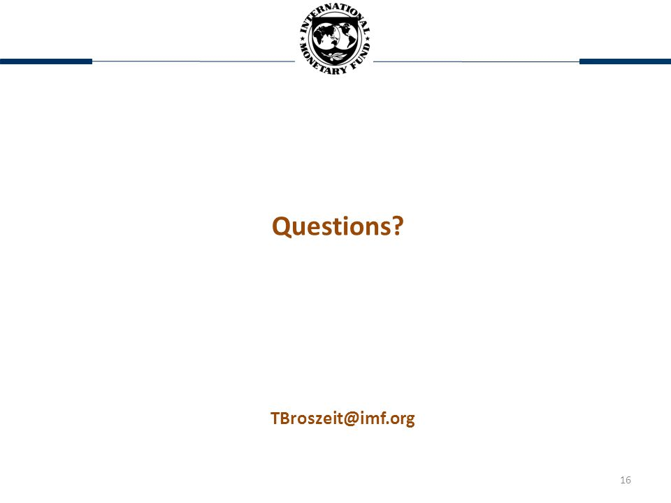 16 Questions TBroszeit@imf.org