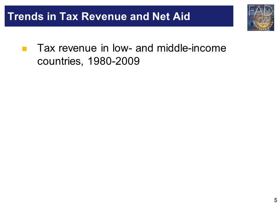 6 …Tax Revenues Have Remained Broadly Stable in Two Groups Note: Economies are divided among income groups according to 2009 gross national income (GNI) per capita, calculated using the World Bank Atlas method.