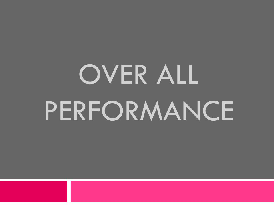 OVER ALL PERFORMANCE