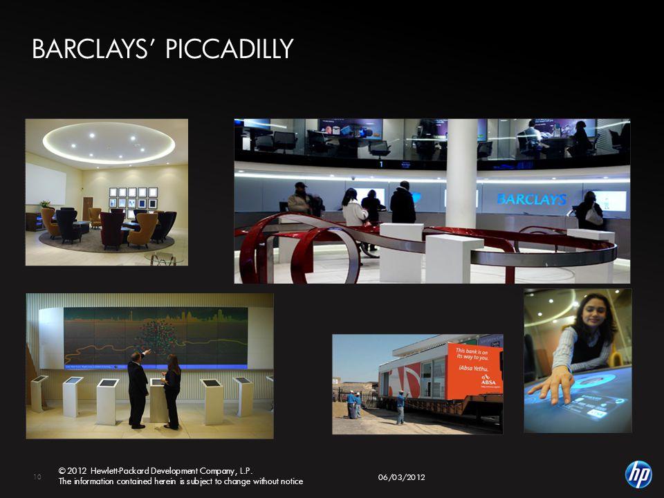 10 © 2012 Hewlett-Packard Development Company, L.P.