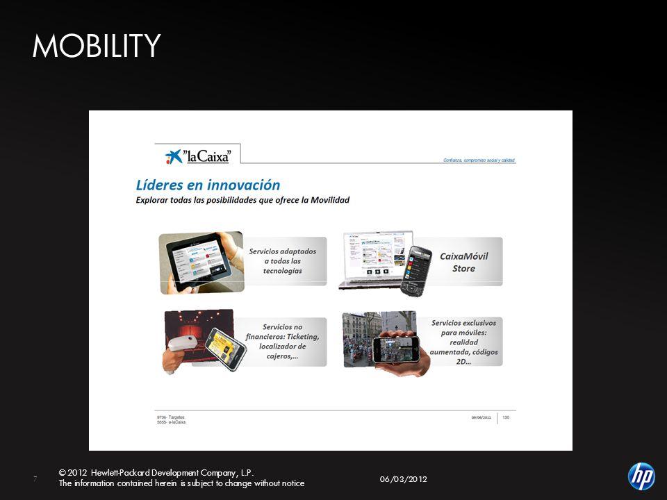 7 © 2012 Hewlett-Packard Development Company, L.P.
