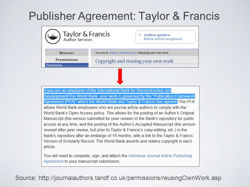 Publisher Agreement: Taylor & Francis Source: http://journalauthors.tandf.co.uk/permissions/reusingOwnWork.asp