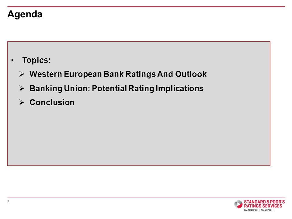 Western European Bank Ratings And Outlook