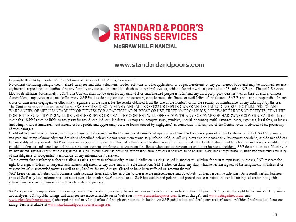 Copyright © 2014 by Standard & Poors Financial Services LLC.