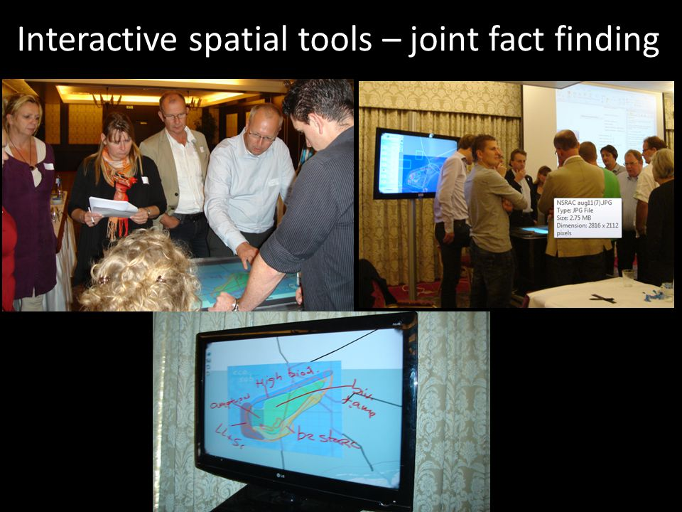 Interactive spatial tools – joint fact finding