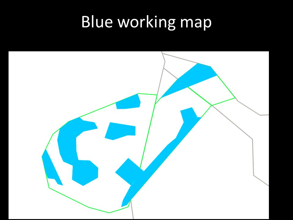 Blue working map