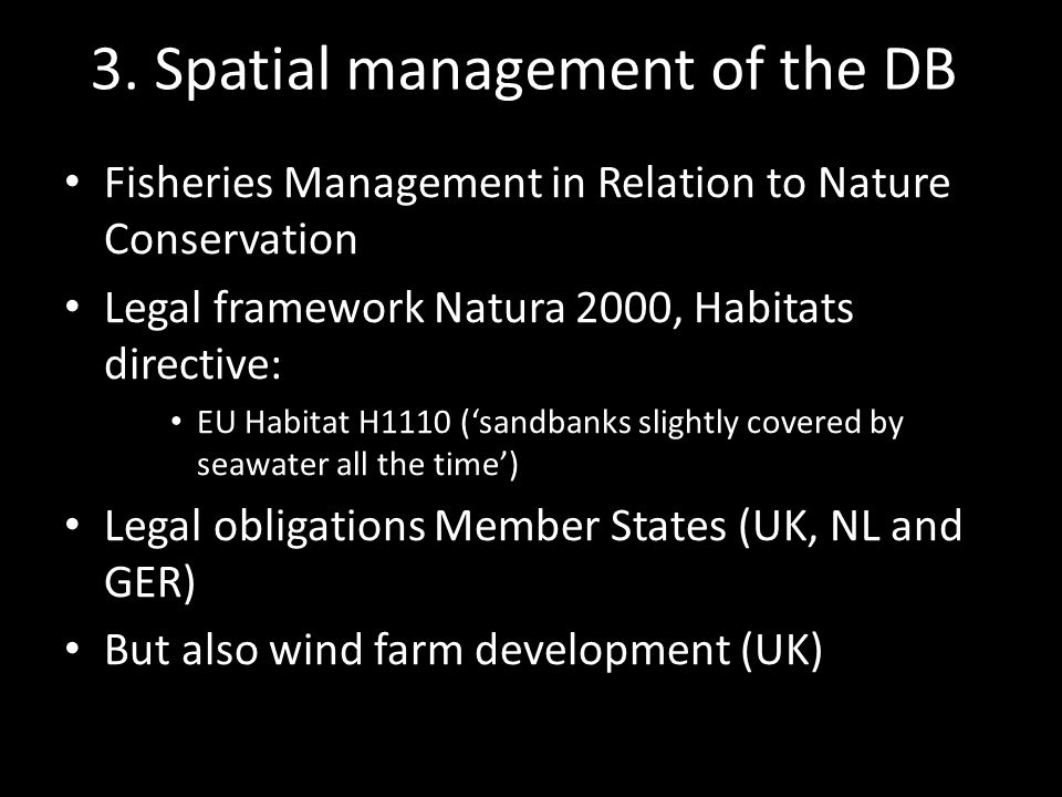 Three Special Areas of Conservation (SACs) UK NL GER