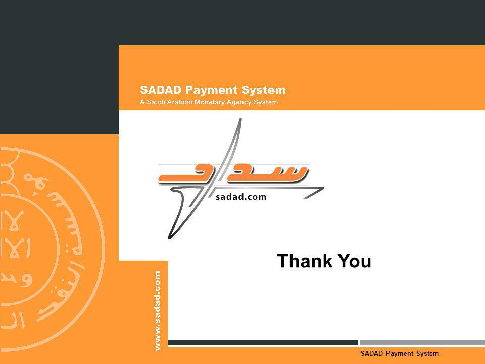SADAD Payment System Thank You
