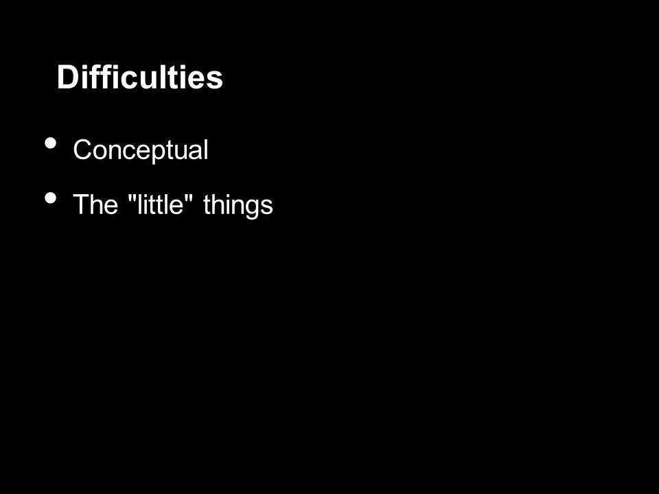 Difficulties Conceptual The