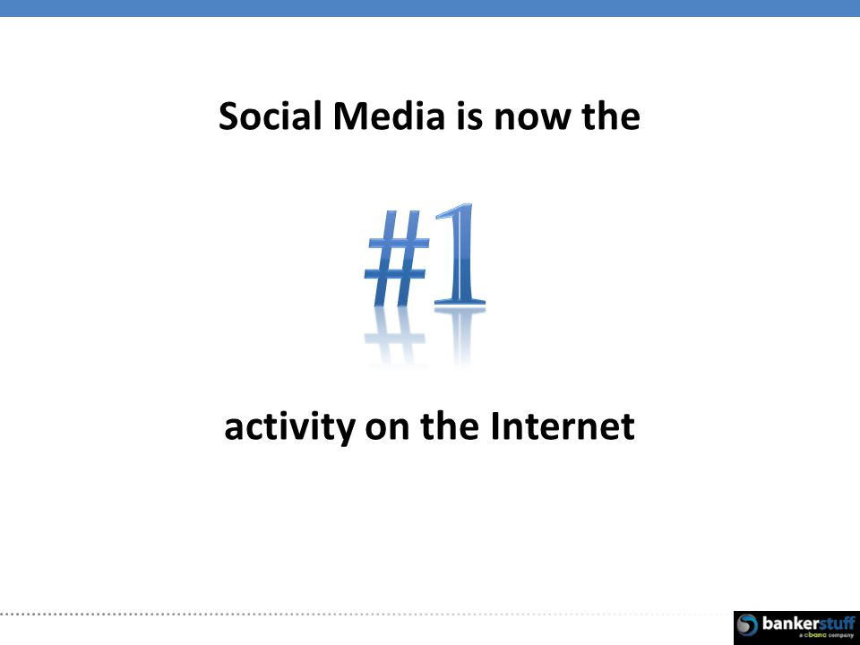 Social Media is now the activity on the Internet