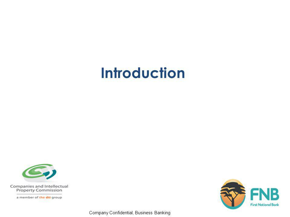 Company Confidential, Business Banking Introduction