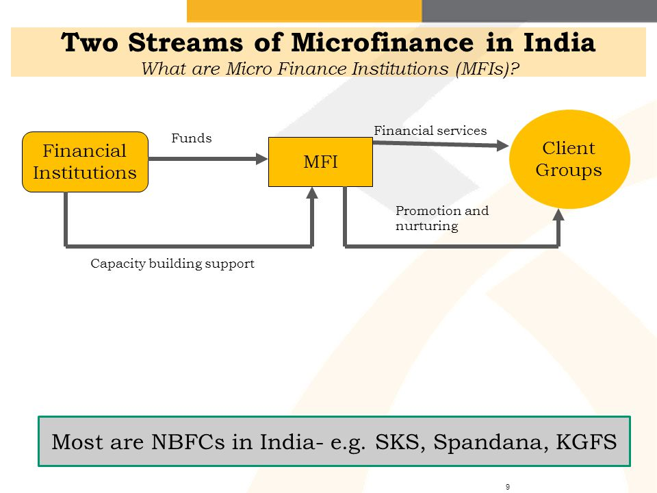 MFI LoansRepayment Joint liability of the group Two Streams of Microfinance in India How does the Joint Liability Group (JLG) Model work.