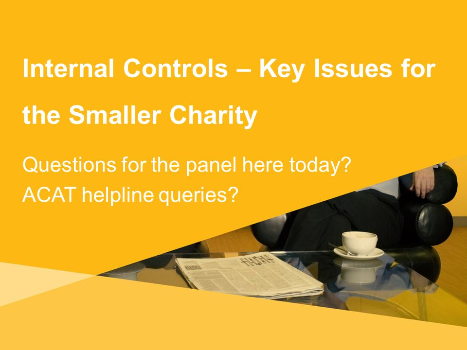 Internal Controls – Key Issues for the Smaller Charity Questions for the panel here today.
