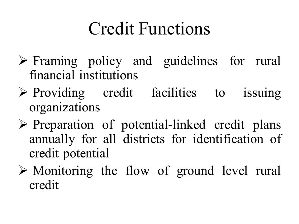 Development and Promotional Functions In order to reinforce the credit functions and to make credit more productive, NABARD has been undertaking a number of developmental and promotional activities such as:- Help cooperative banks and Regional Rural Banks to prepare development actions plans for themselves Enter into MoU with state governments and cooperative banks specifying their respective obligations to improve the affairs of the banks in a stipulated timeframe Help Regional Rural Banks and the sponsor banks to enter into MoUs specifying their respective obligations to improve the affairs of the Regional Rural Banks in a stipulated timeframe Monitor implementation of development action plans of banks and fulfillment of obligations under MoUs