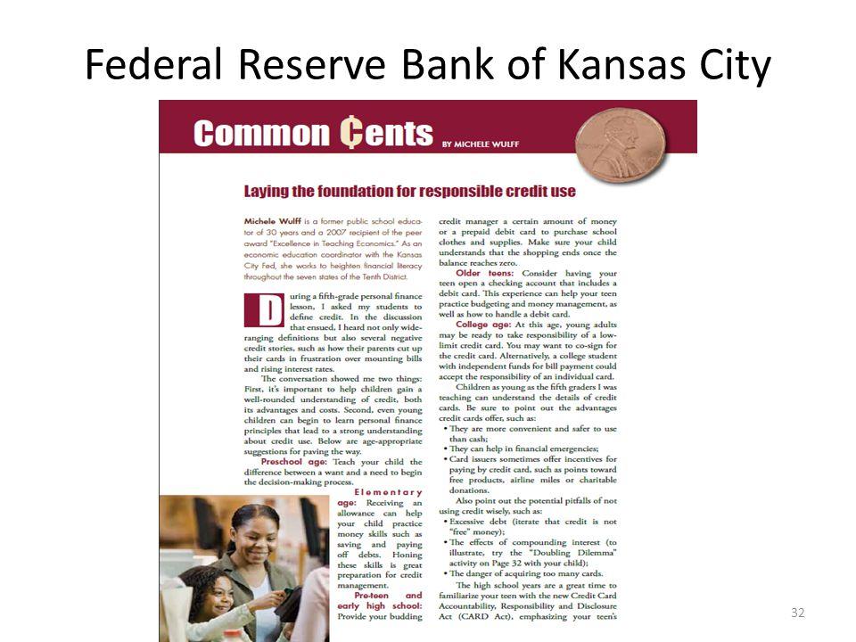Federal Reserve Bank of Kansas City 32