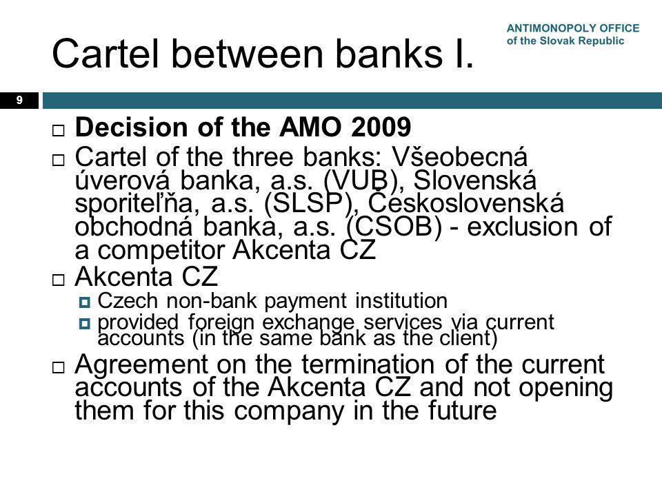 Cartel between banks I.
