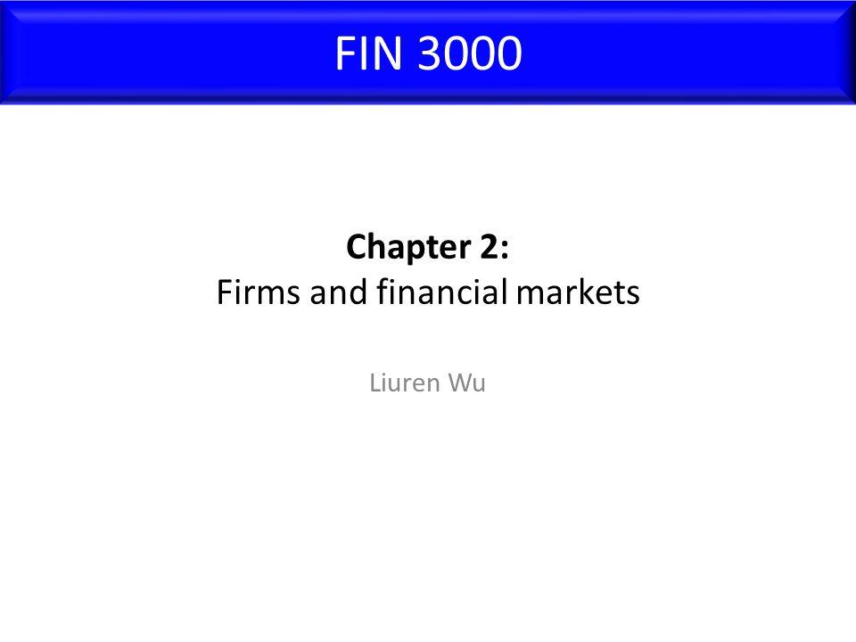 Chapter 2: Firms and financial markets Liuren Wu FIN 3000