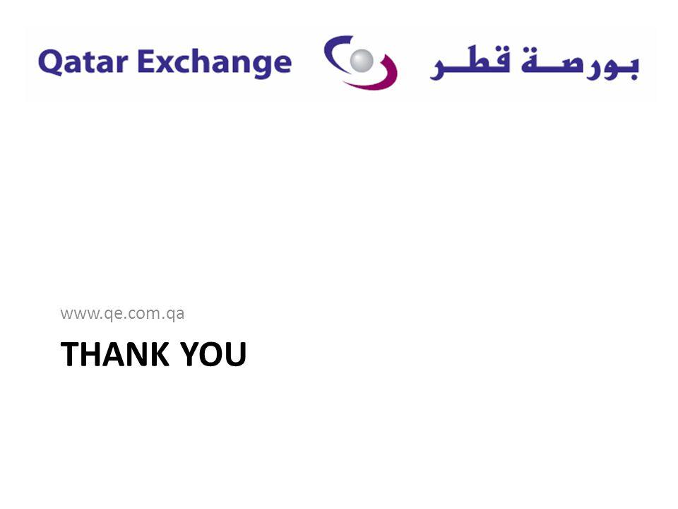 THANK YOU www.qe.com.qa
