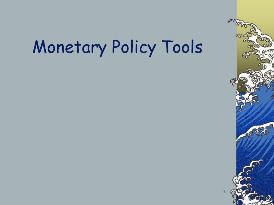 Monetary Policy Tools 1