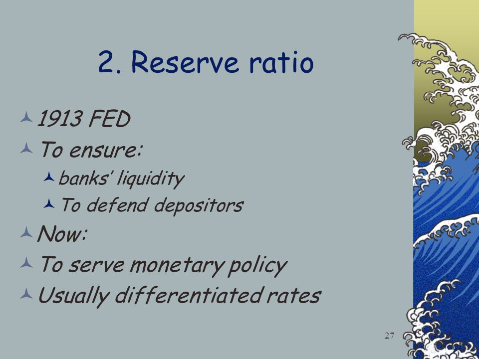 All Short term interest rates change with the fed funds rate Fed Injects/ erase new reserves to the banking system 1.Open Market Operations Fed buys/s