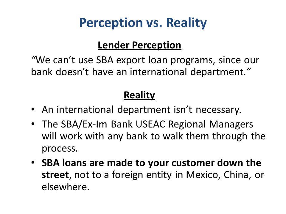 Perception vs.