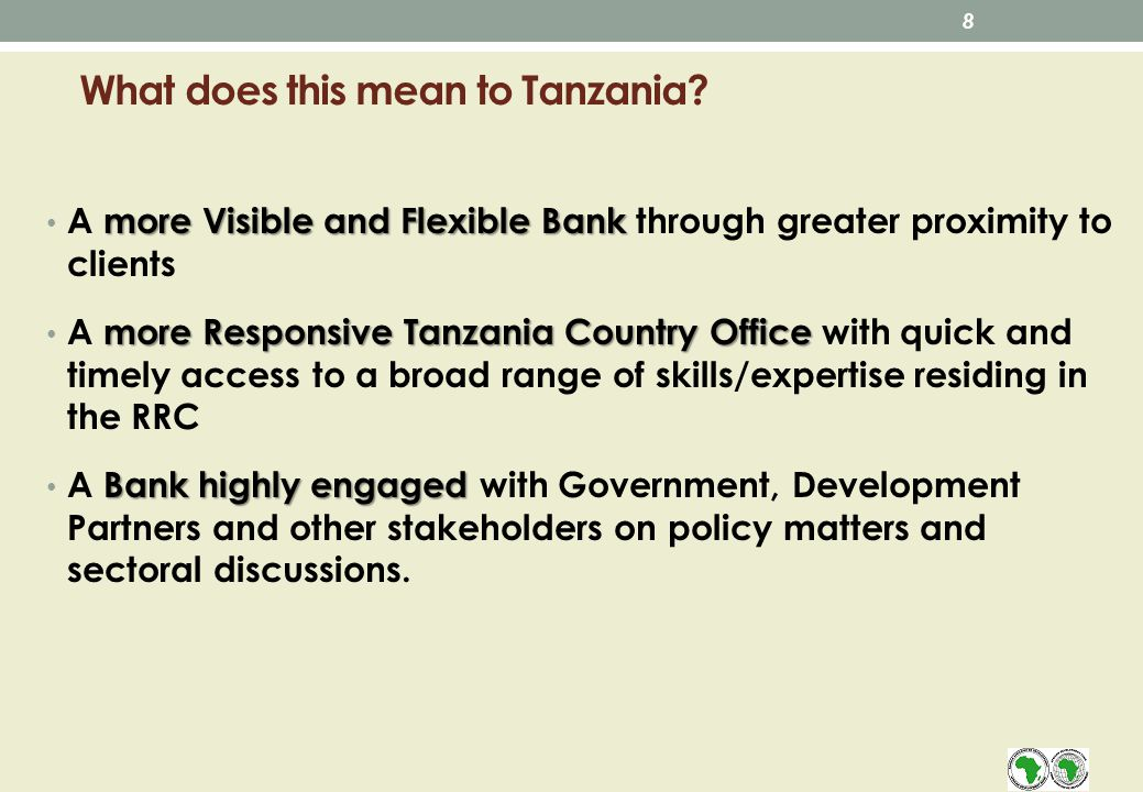 What does this mean to Tanzania.