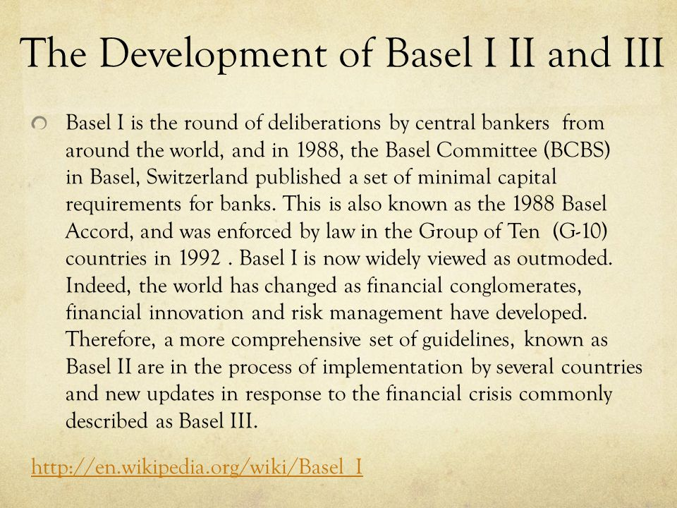 Brief Introduction of Basel III BASEL III is a new global regulatory standard on bank capital adequacy and liquidity agreed upon by the members of the Basel Committee on Banking Supervision.