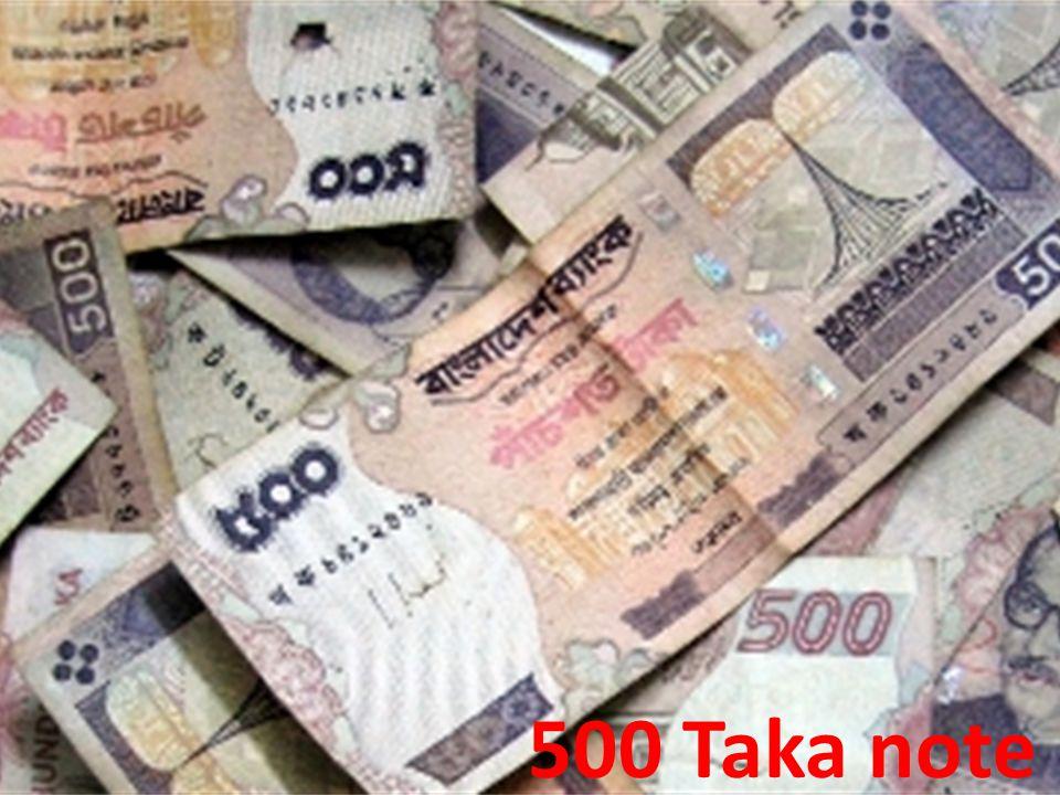 500 Taka note