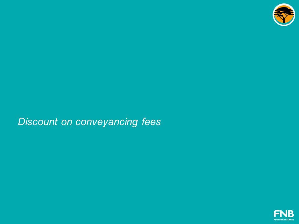 Discount on conveyancing fees
