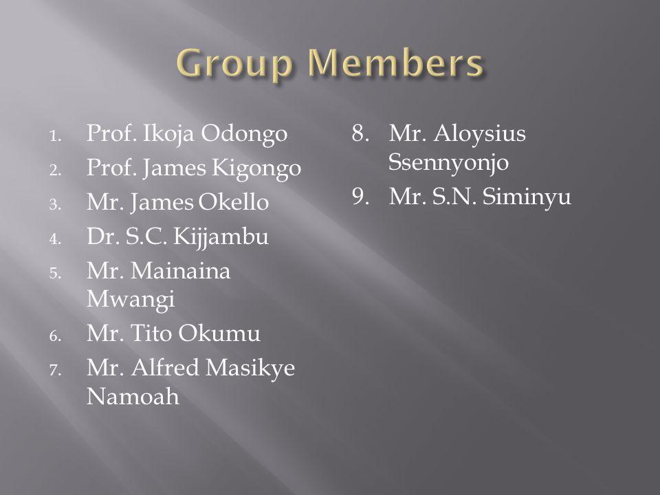 1. Prof. Ikoja Odongo 2. Prof. James Kigongo 3.