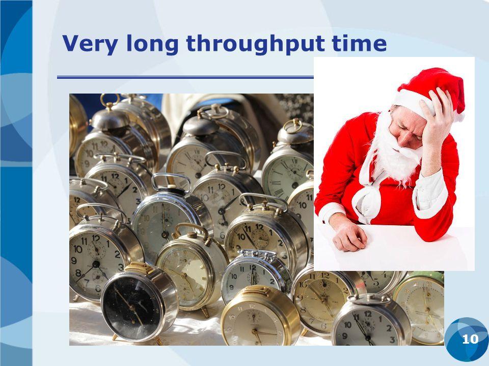 Very long throughput time 10