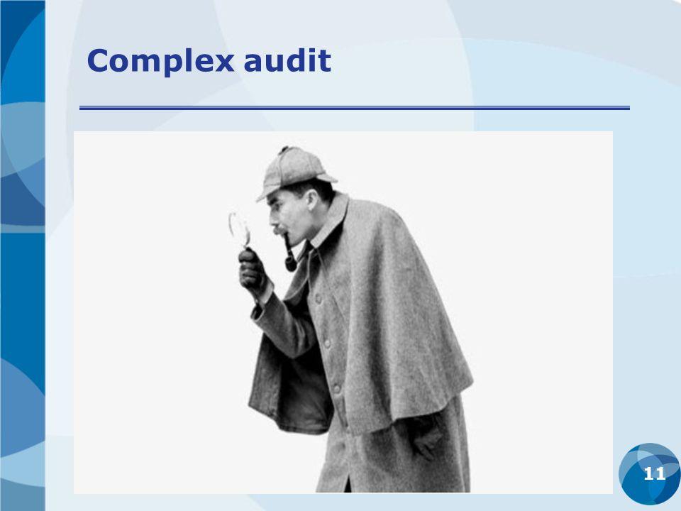Complex audit 11