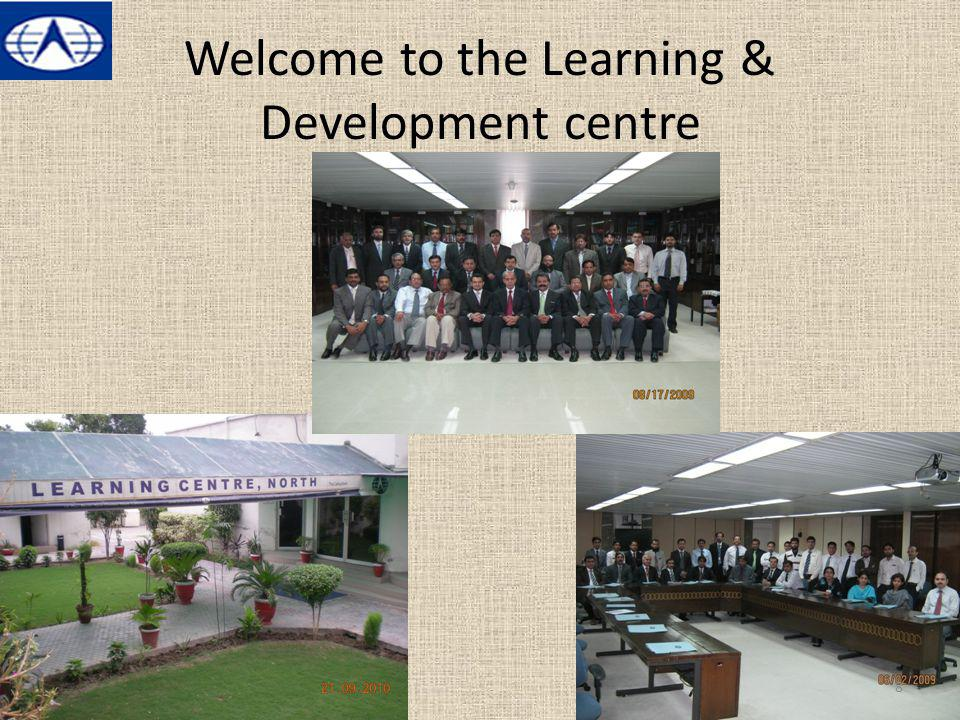 Welcome to the Learning & Development centre 8