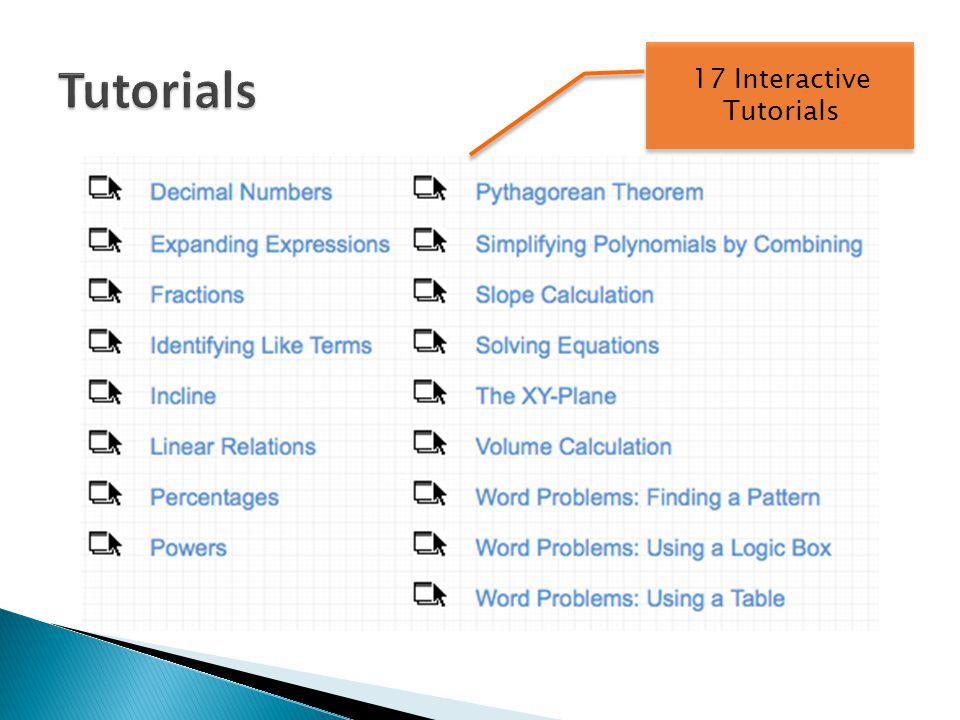 17 Interactive Tutorials